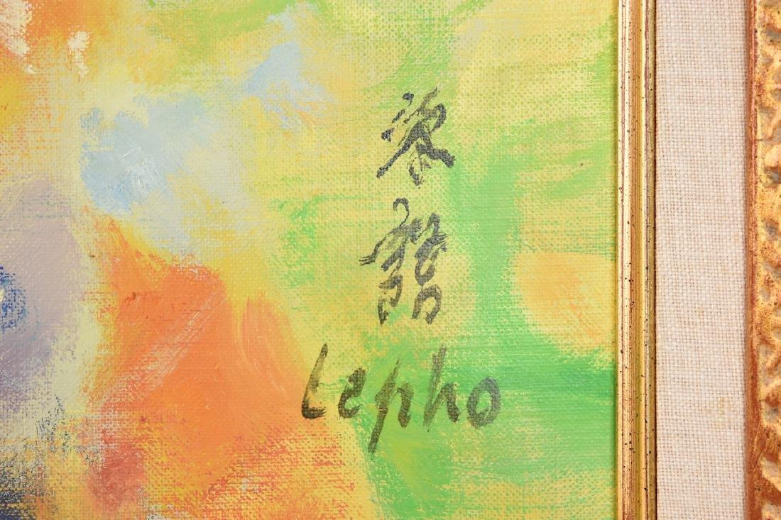 Le Pho Oil on Canvas; Parrni-Les Fleurs - 3