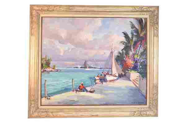 Emile Gruppe Oil Painting; Andros Island