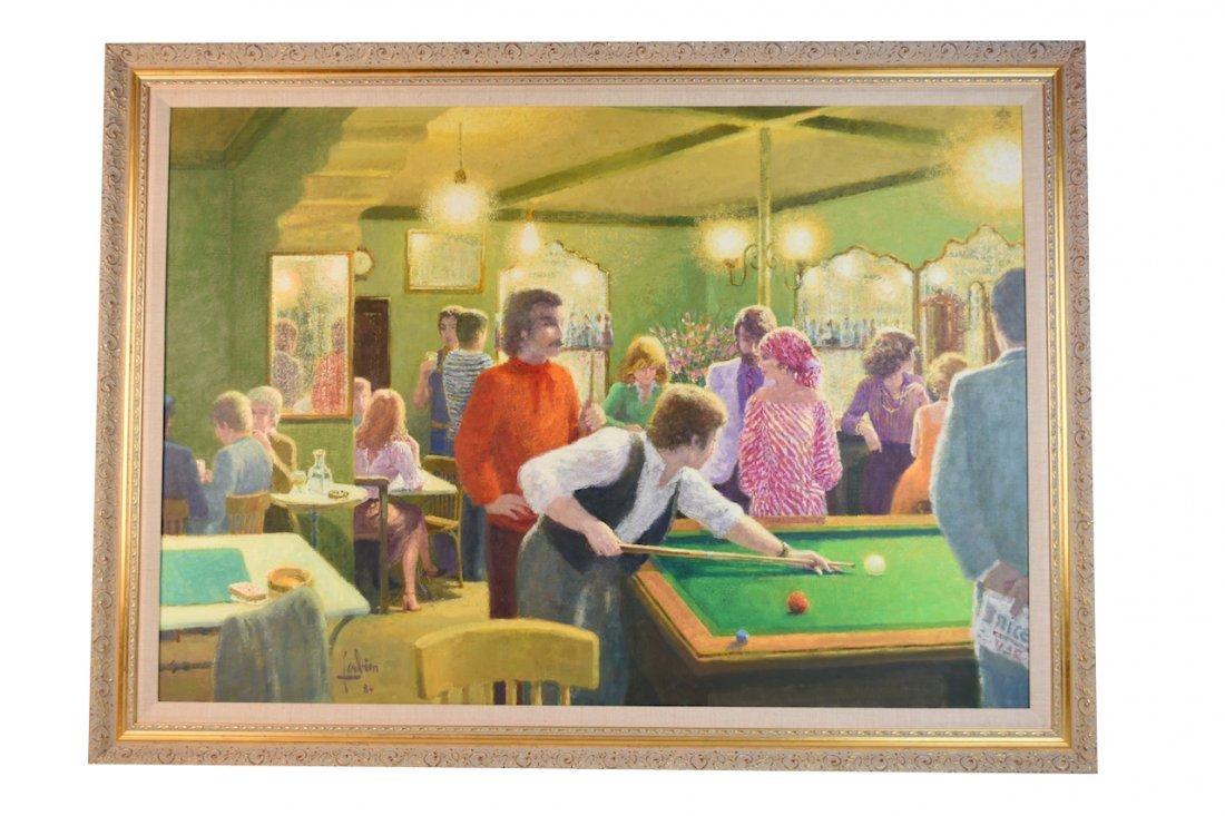 1984 Louis Fabien Impressionist Oil on Canvas