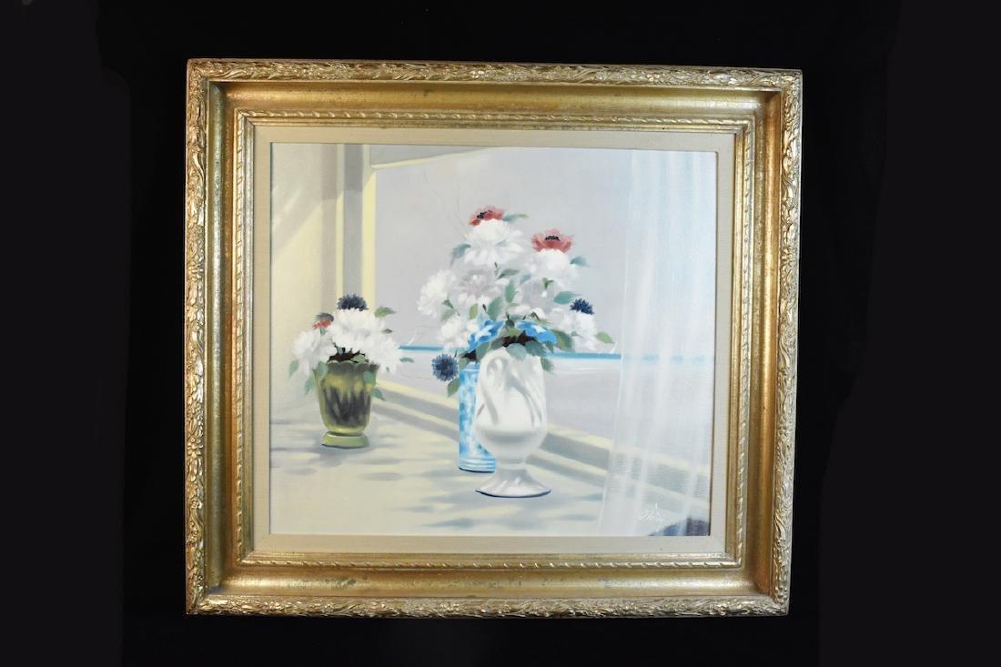 "Original ""Flowers"" Oil Painting By Soldi, SLR"