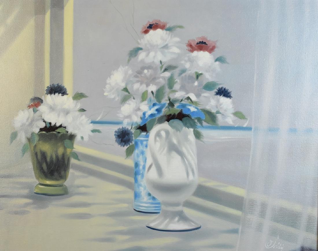 "Original ""Flowers"" Oil Painting By Soldi, SLR - 2"
