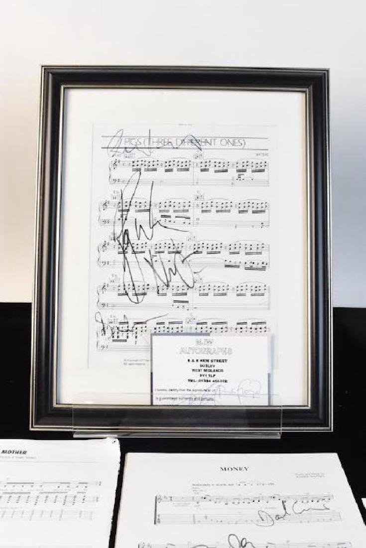 Pink Floyd Autographed Sheet Music - 10