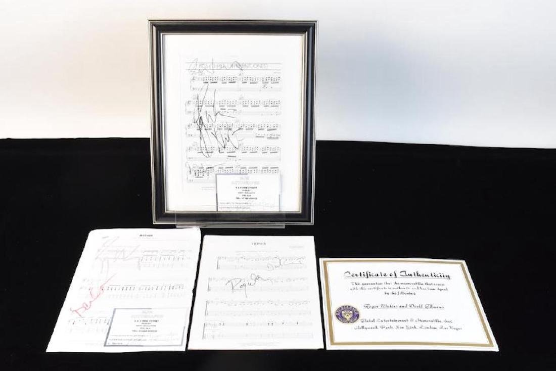 Pink Floyd Autographed Sheet Music