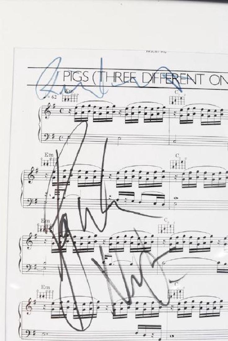 Pink Floyd Autographed Sheet Music - 3