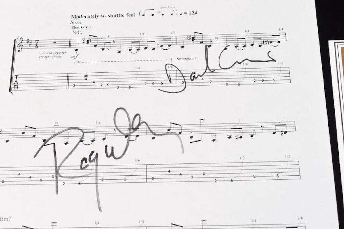 Pink Floyd Autographed Sheet Music - 6