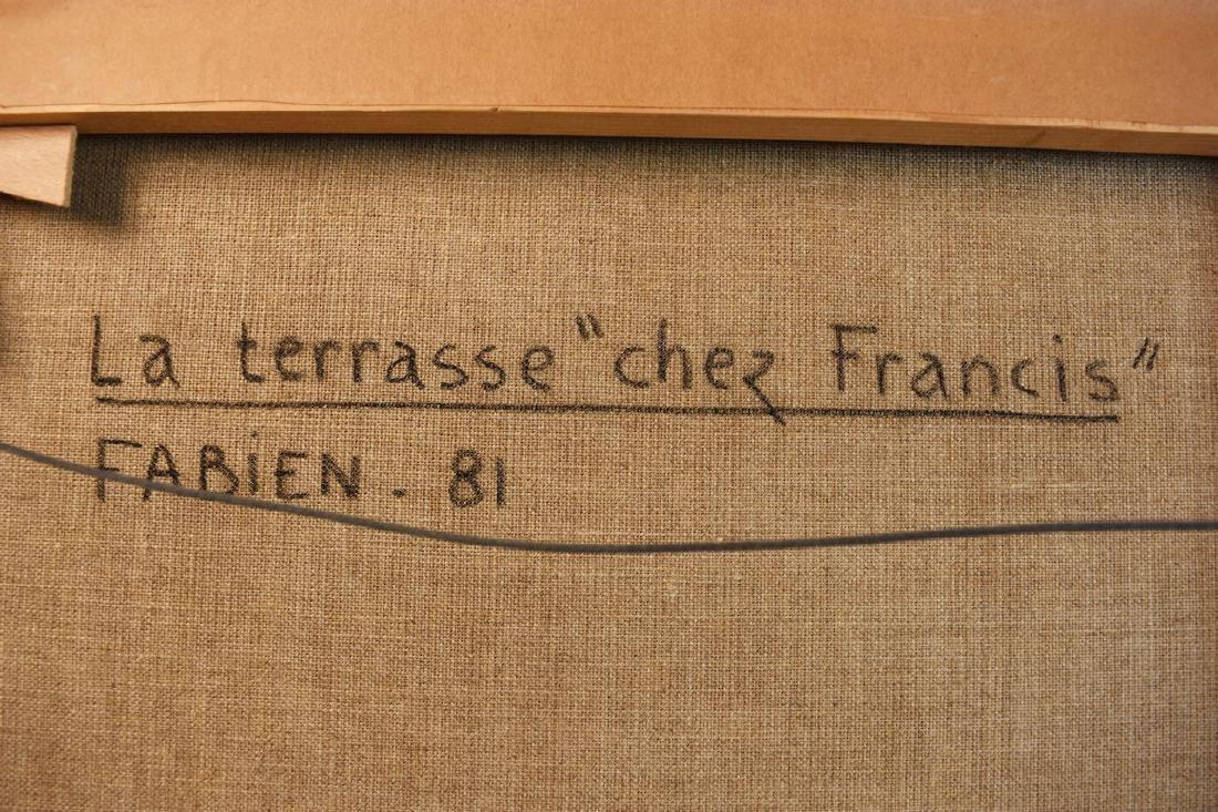 """La Terrasse """"chez Francis"""" by Fabien, 1981 - 5"""