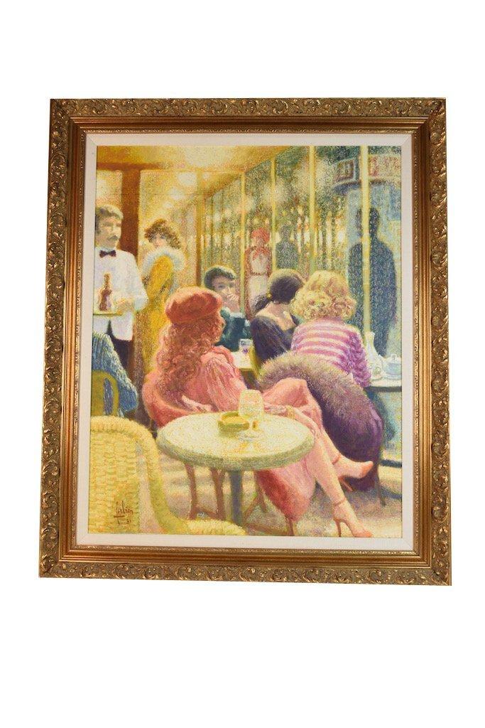 1981 Louis Fabien; Terrasse sur les Boulevards