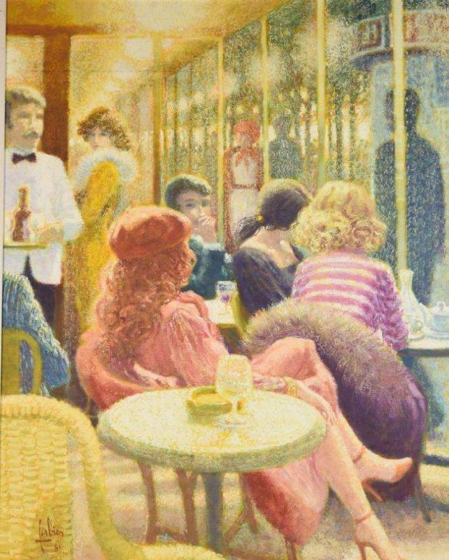 1981 Louis Fabien; Terrasse sur les Boulevards - 2