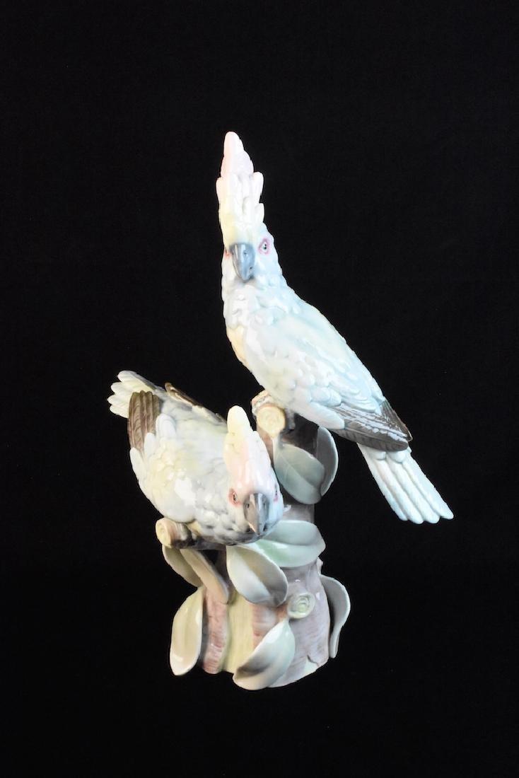 Portuguese Ceramic Cockatoo Figurine Statue