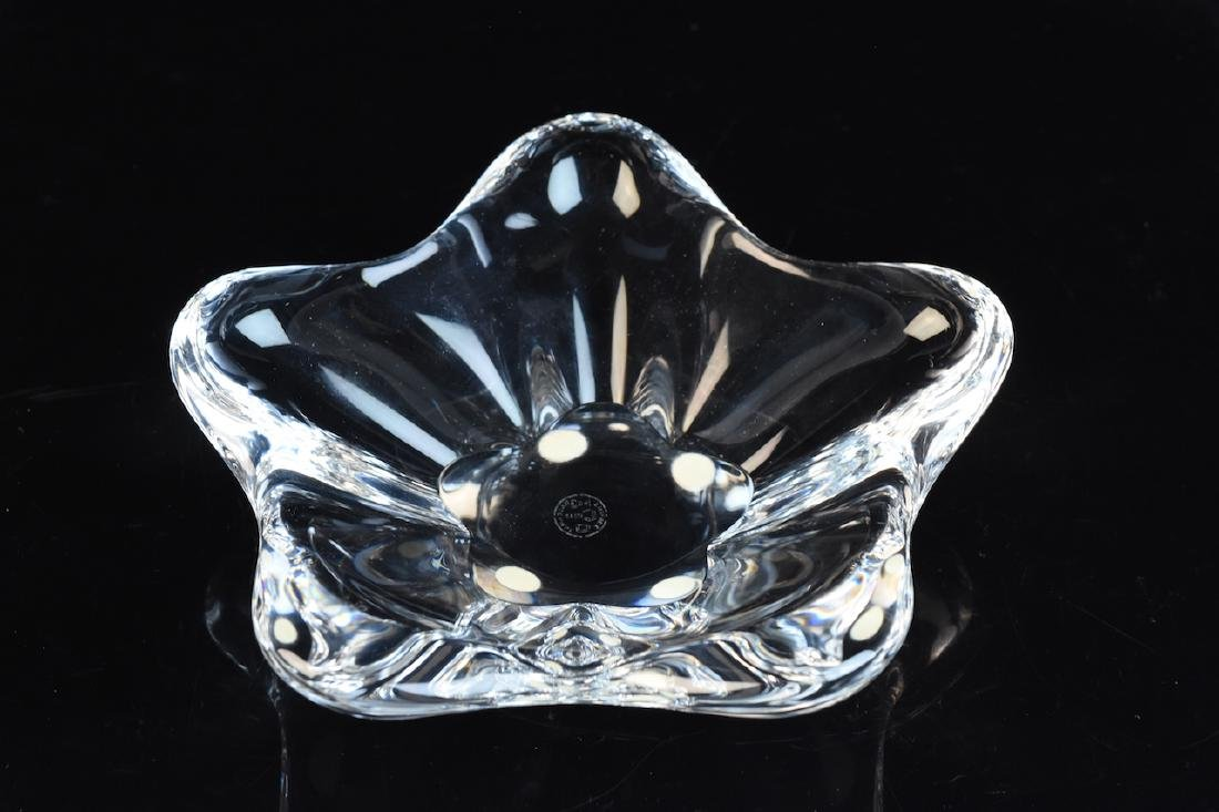 Baccarat Crystal Flower Shaped Dish