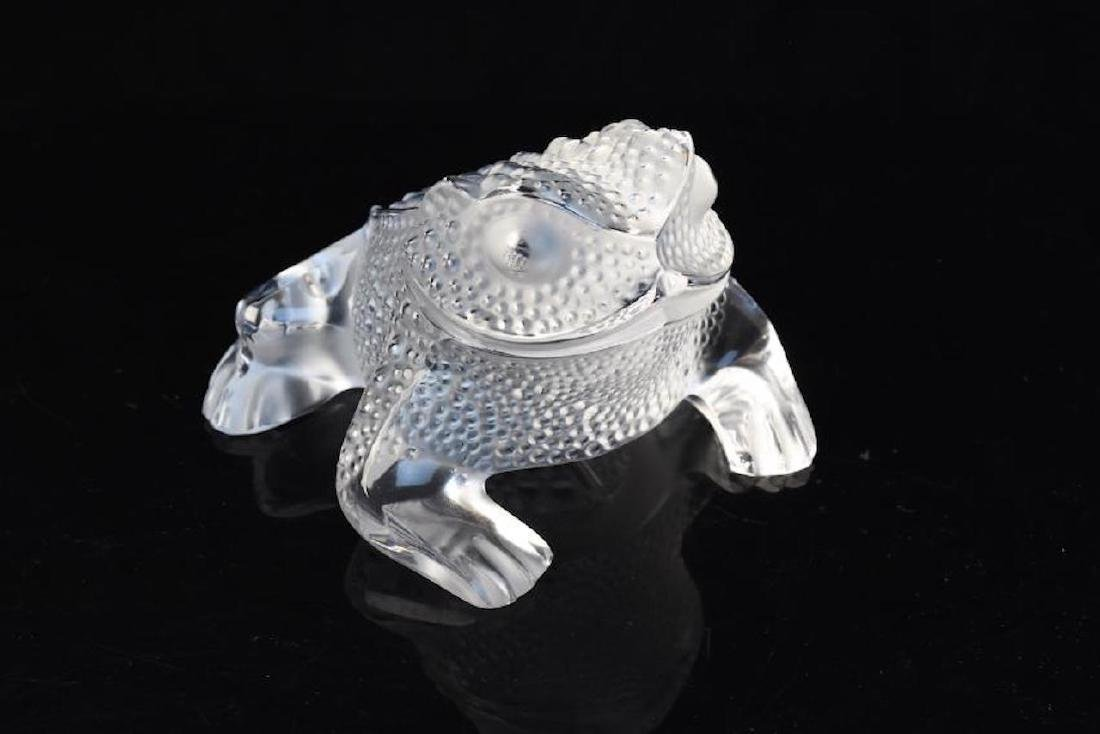 "Signed Lalique Crystal ""Gregoire"" Toad"