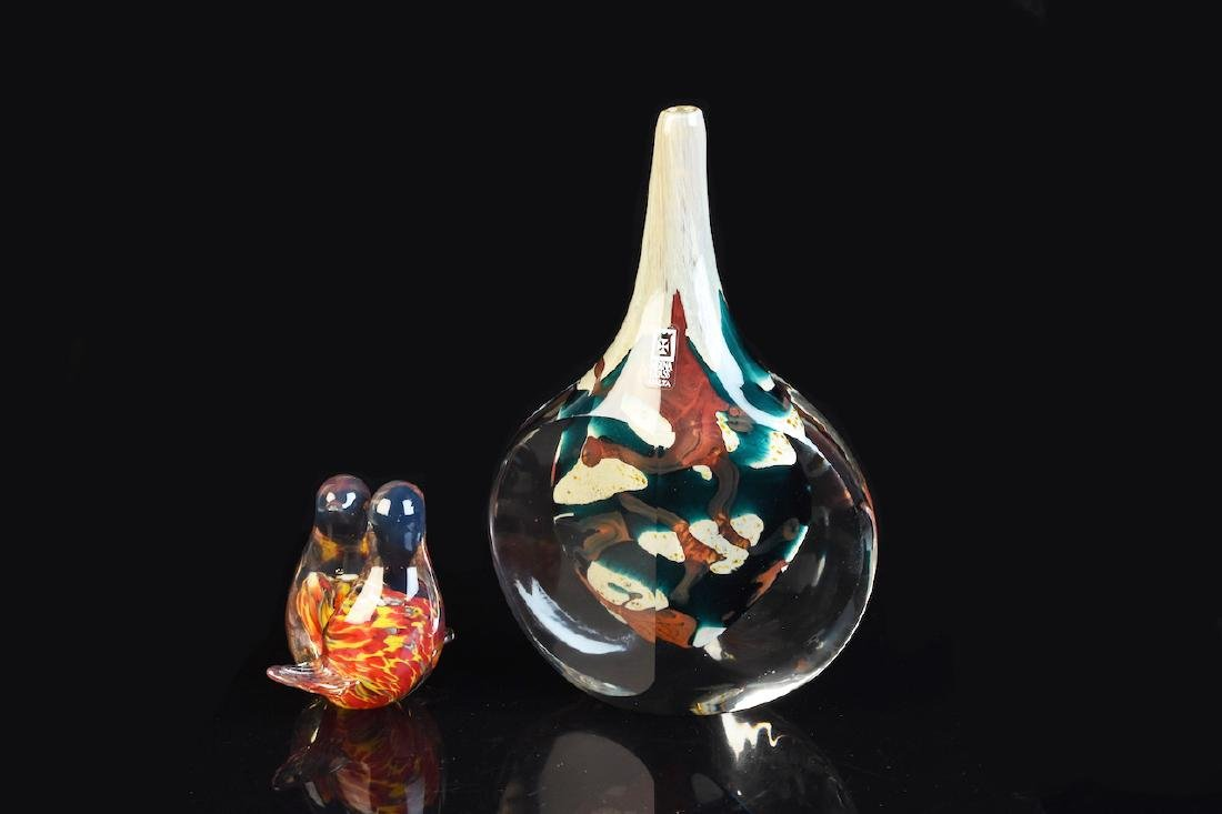 Mdina Maltese Art Glass Vase & Bird Figural