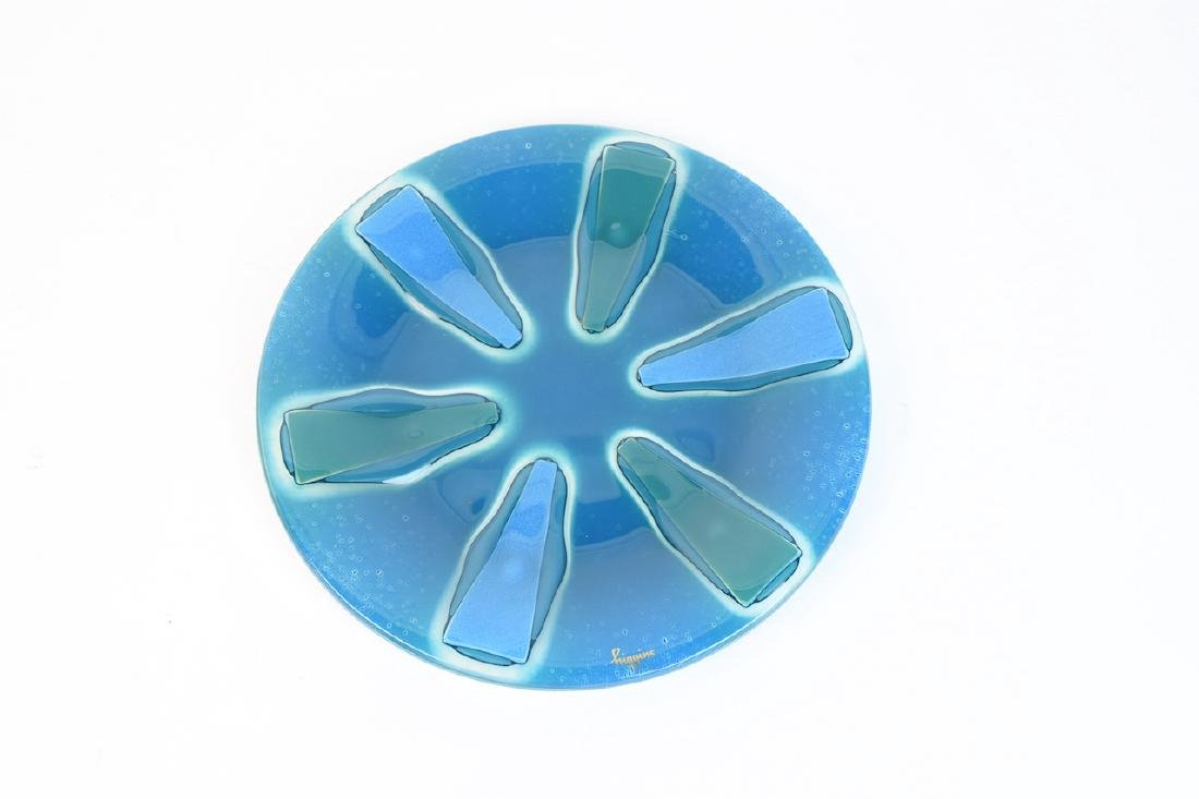 Higgins Fused Glass Plate