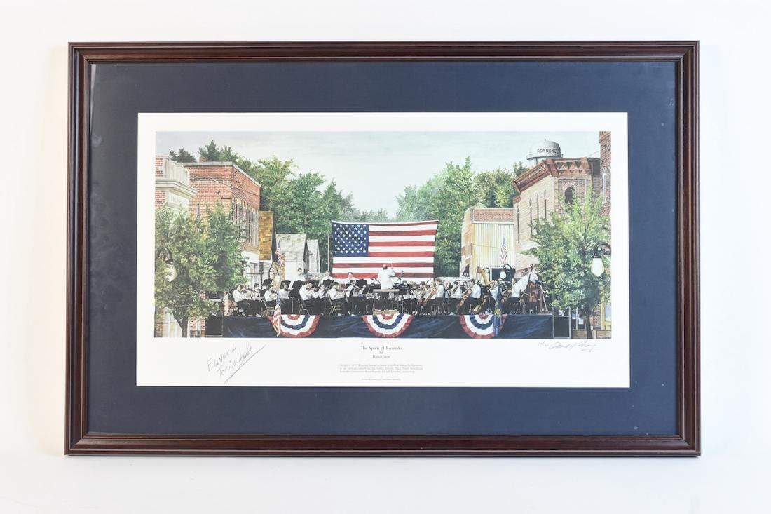 "David Gray ""The Spirit of Roanoke"" print; SLR"