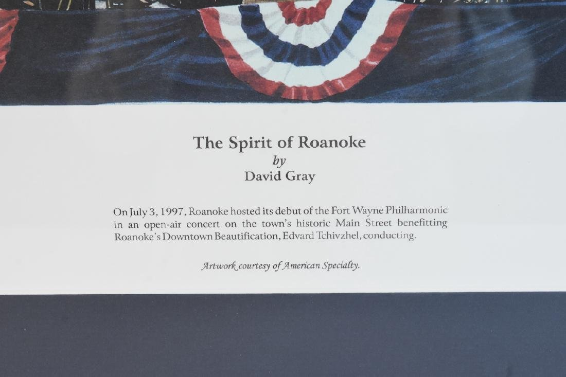 "David Gray ""The Spirit of Roanoke"" print; SLR - 3"