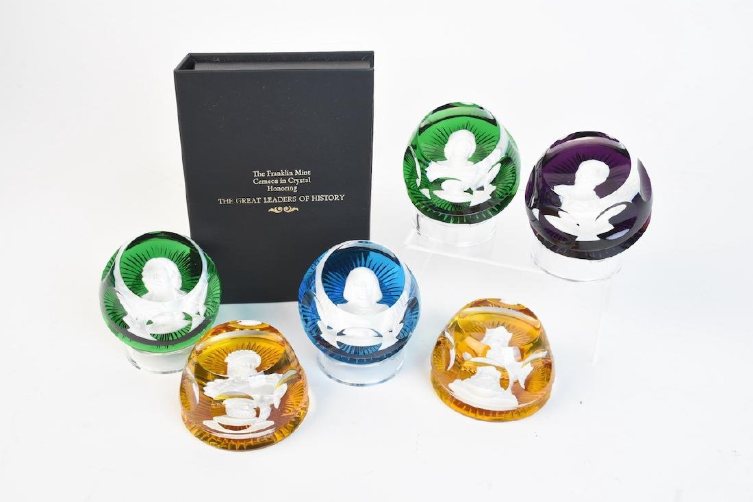 Franklin Mint/Baccarat Cameos in Crystal