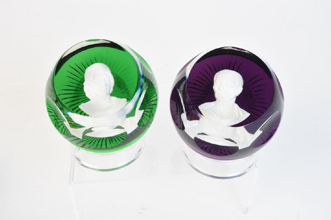 Franklin Mint/Baccarat Cameos in Crystal - 2