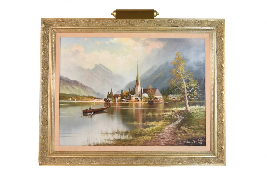 Original Gustav Weiss Oil in Canvas