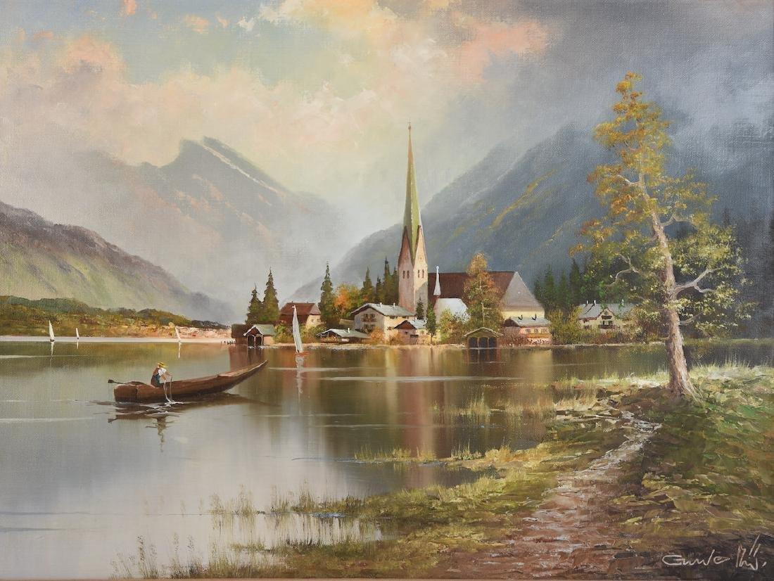 Original Gustav Weiss Oil in Canvas - 2