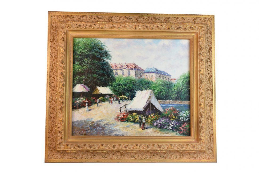 Theo Raucher (b.1931) Oil On Canvas