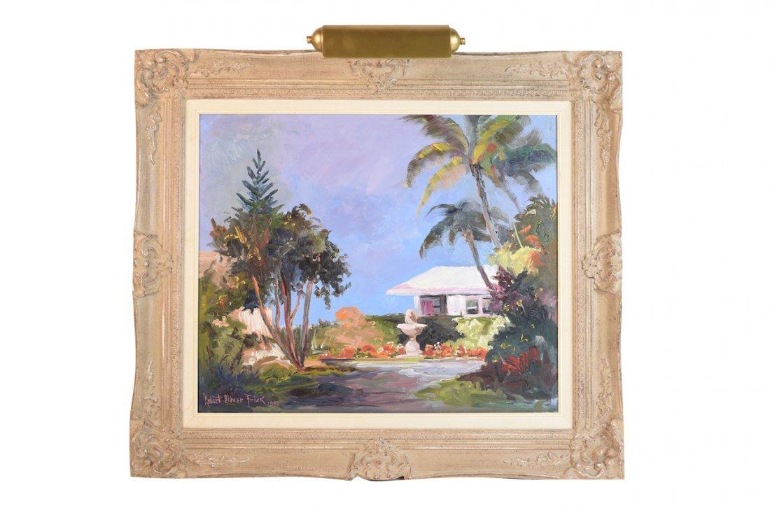 Original Robert Oliver Frick Oil On Canvas