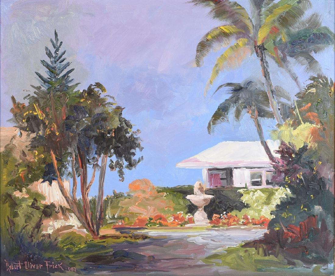 Original Robert Oliver Frick Oil On Canvas - 2