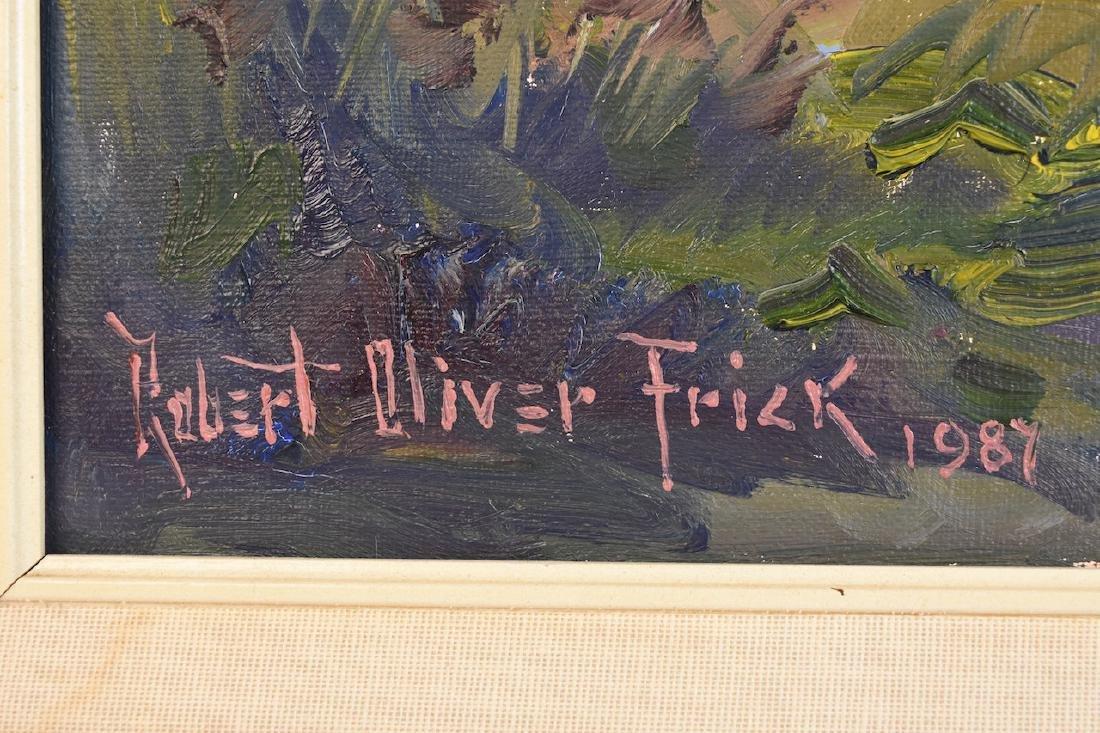Original Robert Oliver Frick Oil On Canvas - 3