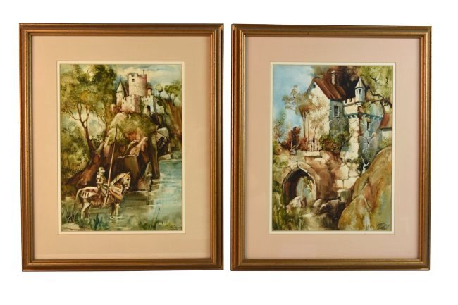 Original Watercolors by Gustave Wander, SLR