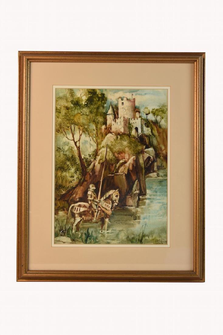Original Watercolors by Gustave Wander, SLR - 2