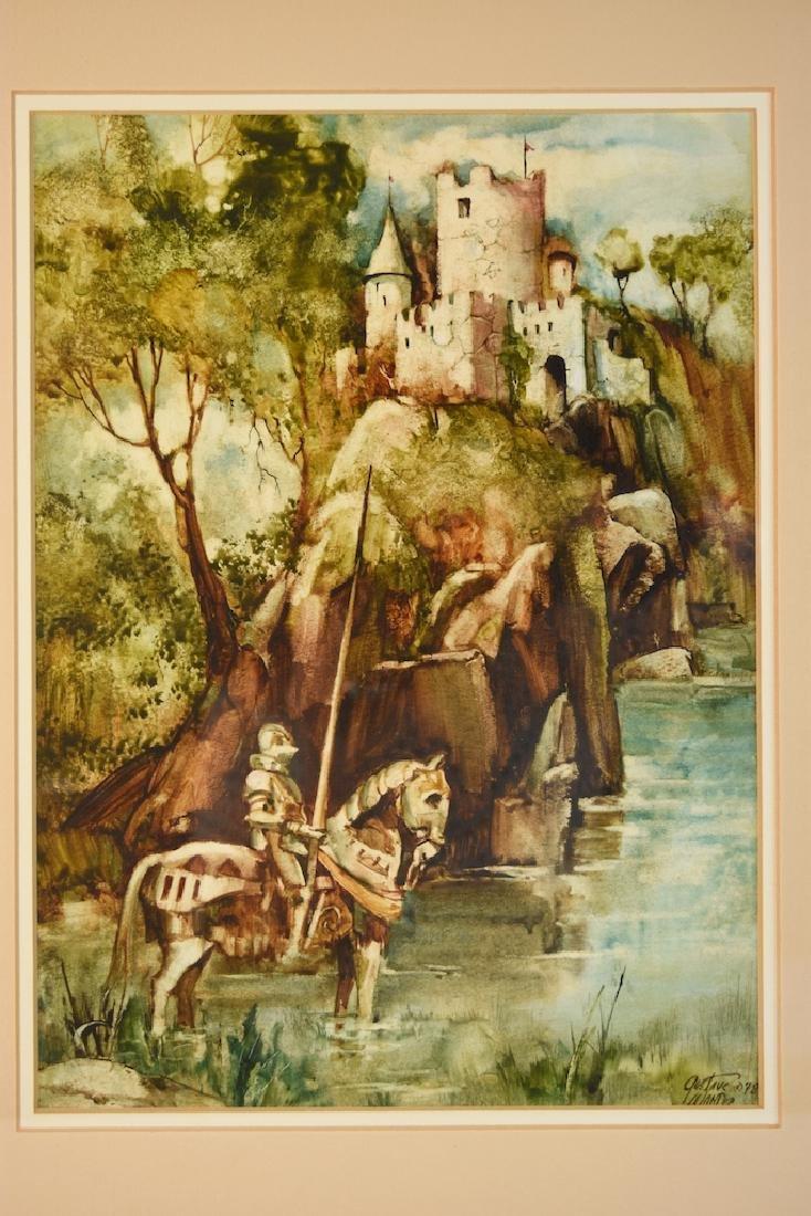 Original Watercolors by Gustave Wander, SLR - 3