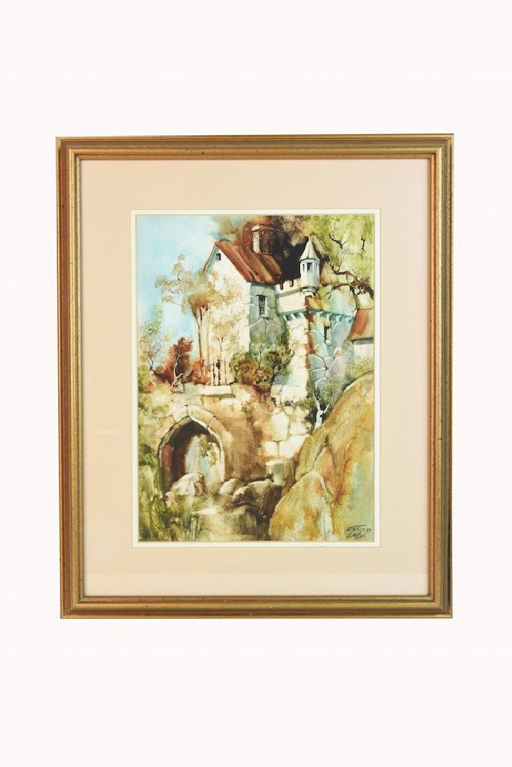 Original Watercolors by Gustave Wander, SLR - 5