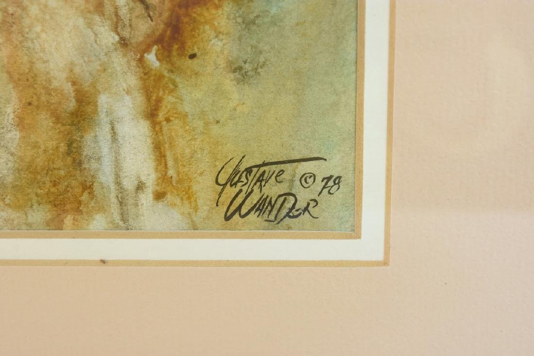 Original Watercolors by Gustave Wander, SLR - 6