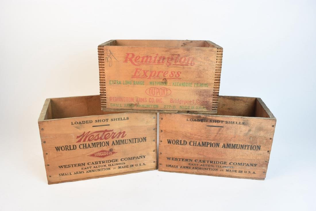 (2) Western Xpert & Remington Express Ammo Crates