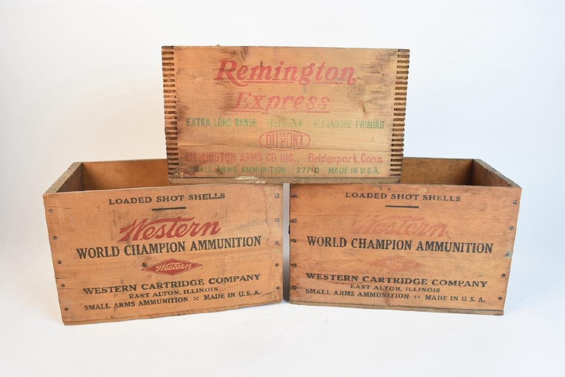 (2) Western Xpert & Remington Express Ammo Crates - 2