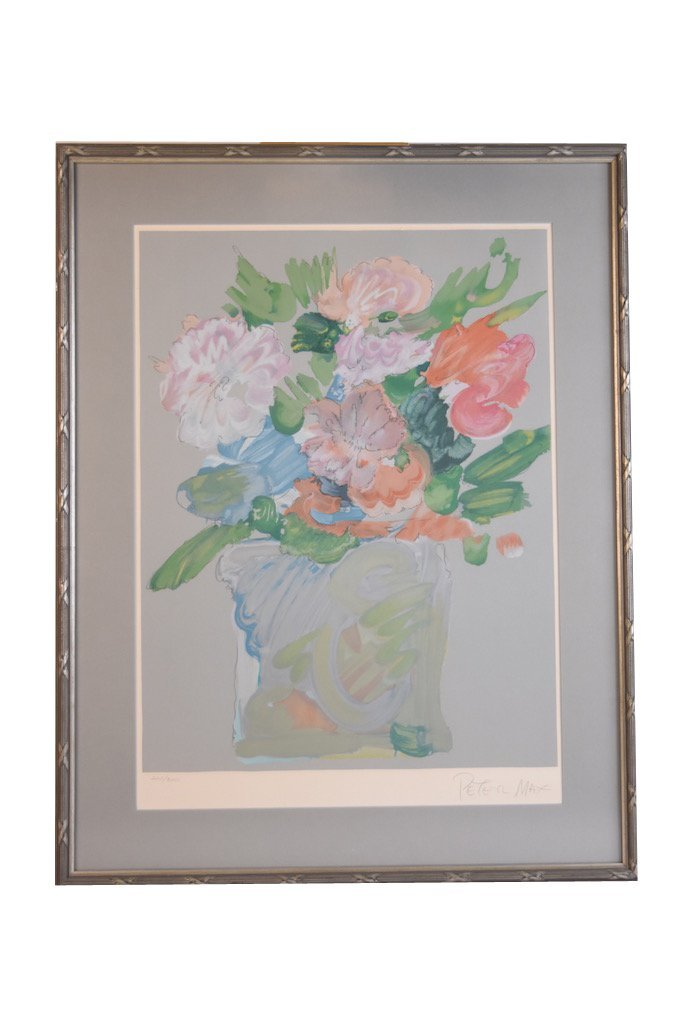 Peter Max Signed Floral Lithograph