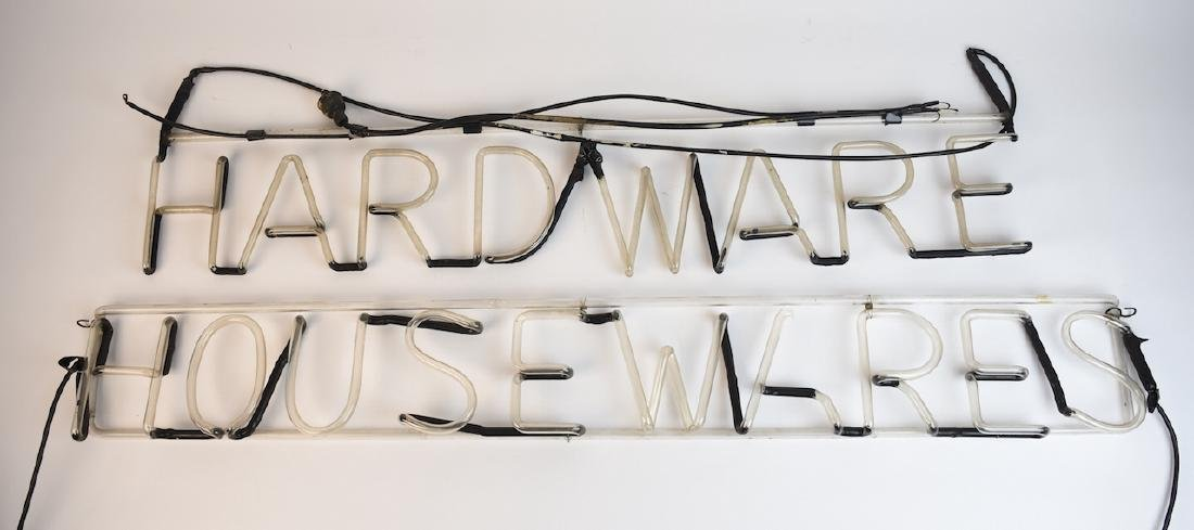 (2) Neon Products Hardware Signs