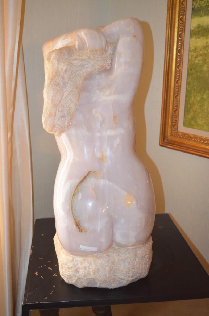Bernard Simon Pink Onyx Female Body Sculpture - 3