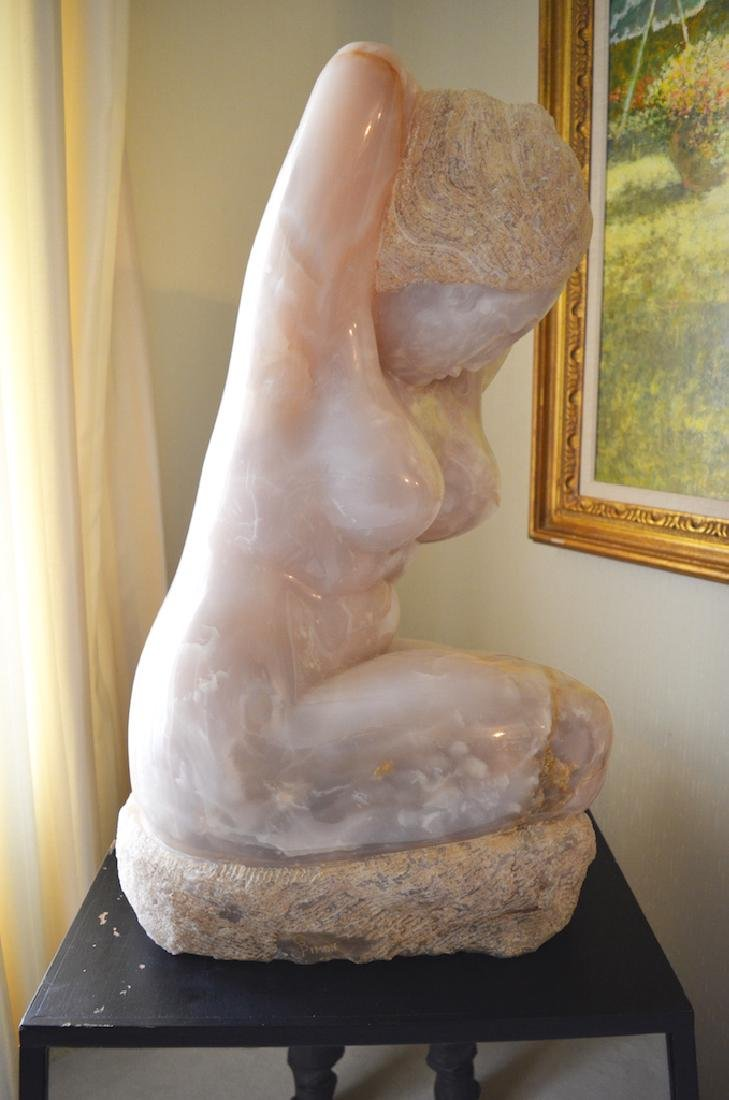 Bernard Simon Pink Onyx Female Body Sculpture - 4