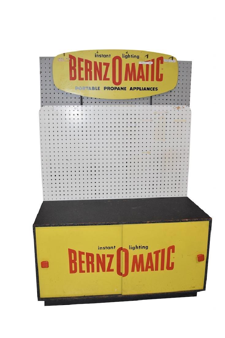 Vint. BernzOMatic Adv. Hardware Store Display Cab