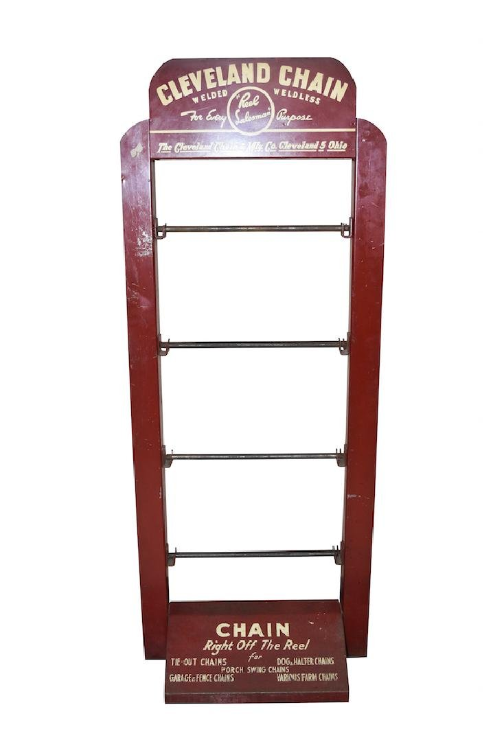 Cleveland Chain Hardware Store Display Rack
