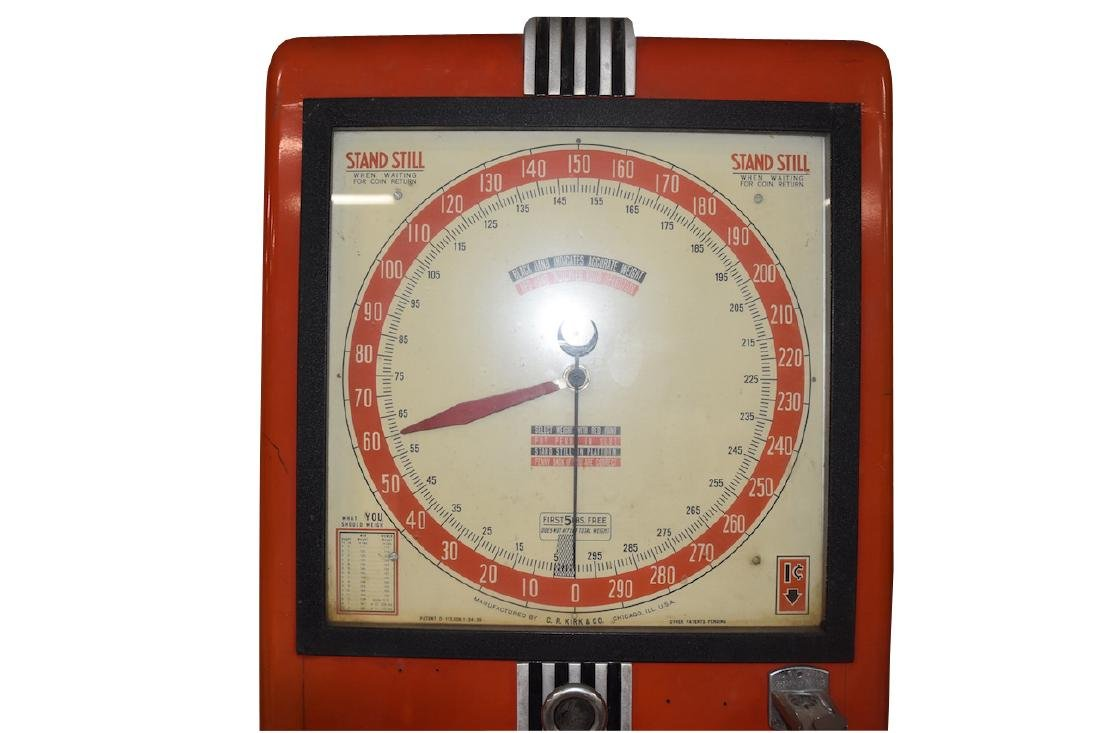 C.R. Kirk & Co. Stand Still Coin Operated Scale - 6