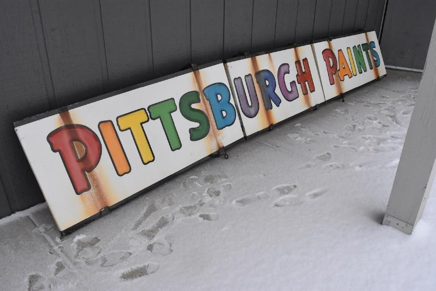 Porcelain Pittsburgh Paints Metal Products Co. Sign