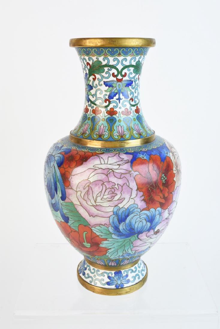 "10"" Colorful Cloisonne Vase"
