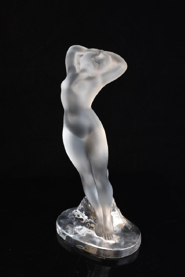Lalique France Frosted Reclining Nude Lady