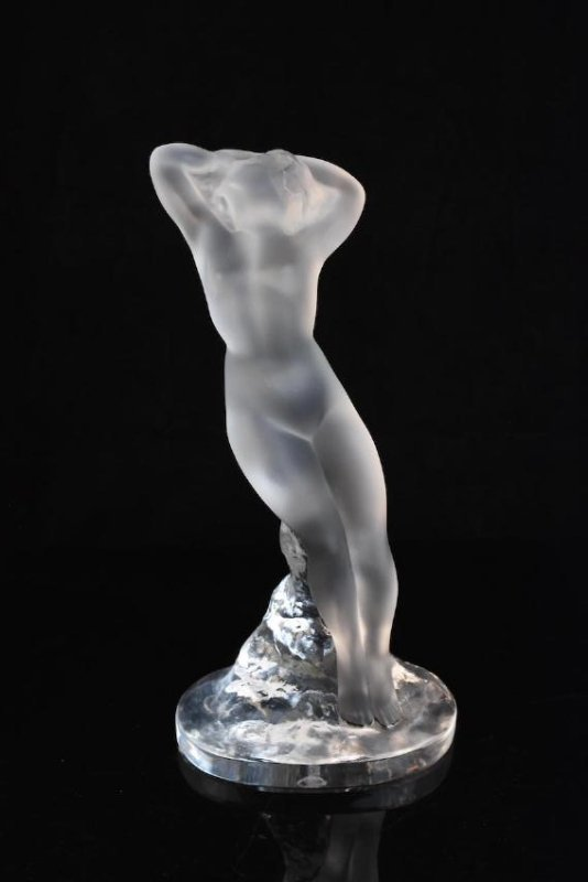 Lalique France Frosted Reclining Nude Lady - 2