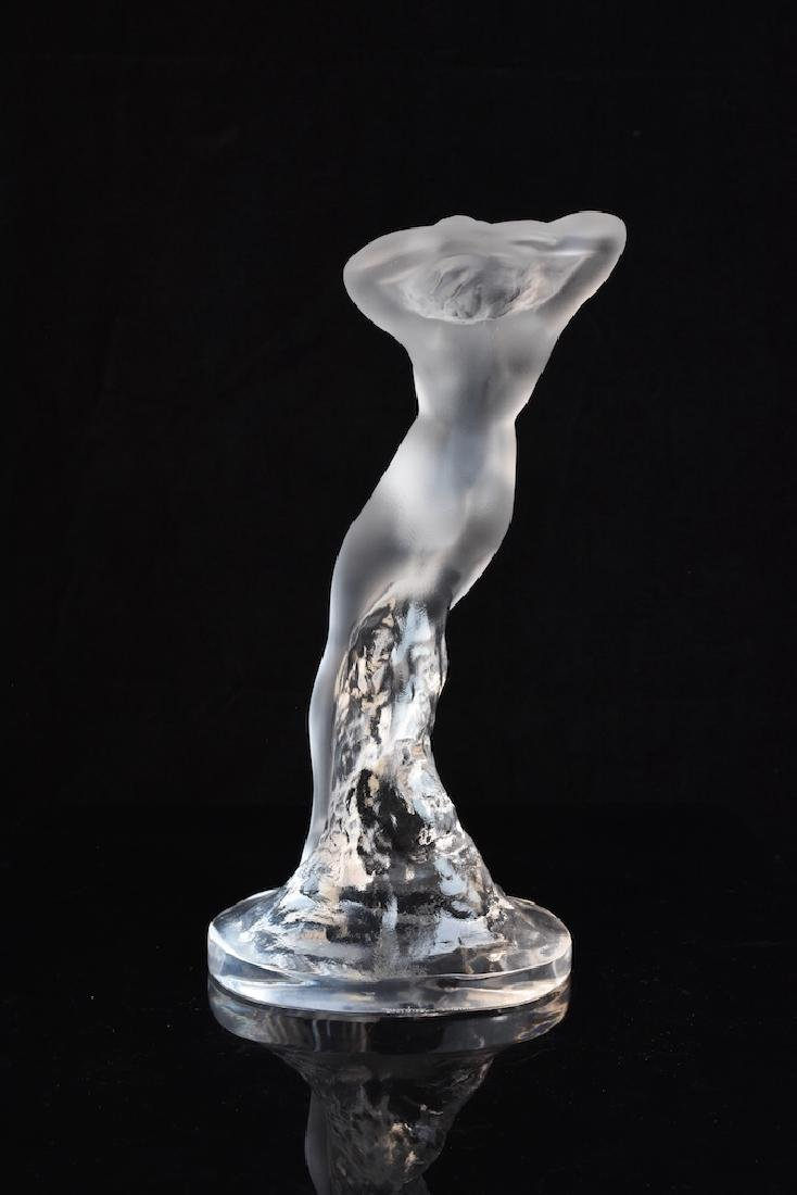 Lalique France Frosted Reclining Nude Lady - 4