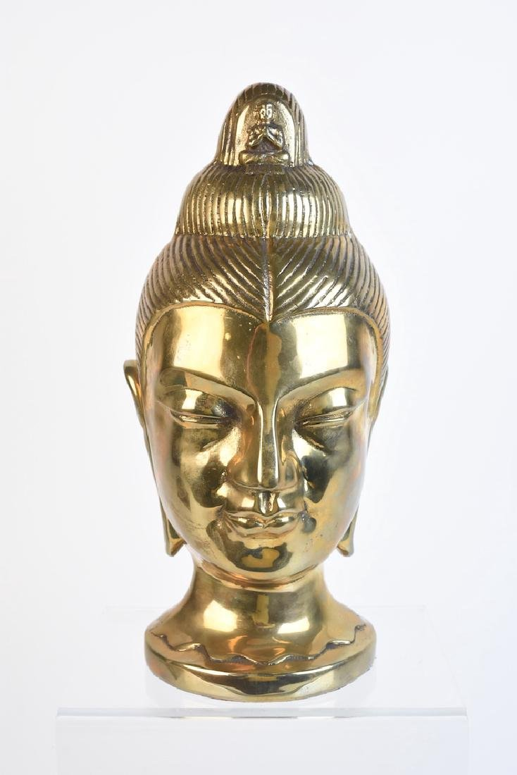 Dolbi-Cashier Brass Oriental Head Sculpture