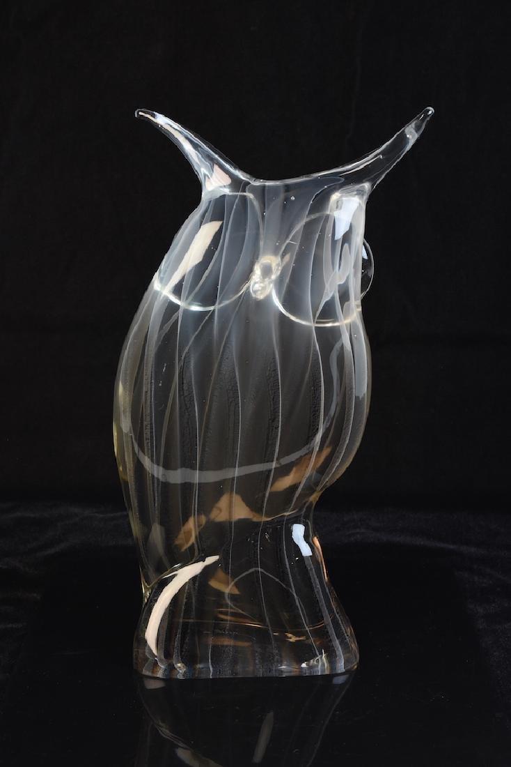 Licio Zanetti Murano Glass Owl Figural; Signed - 2