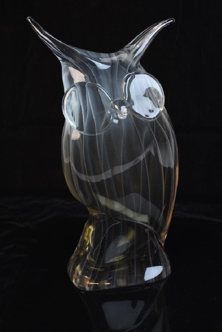 Licio Zanetti Murano Glass Owl Figural; Signed - 4