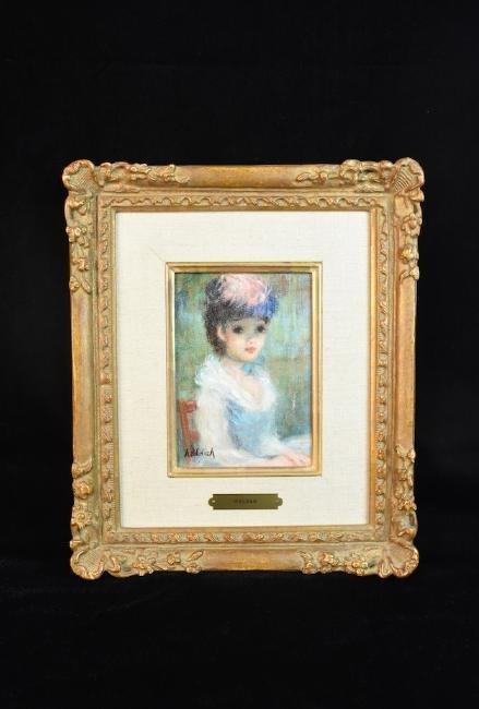 """Original Huldah Oil Painting """"La Chapeau"""" SLL"""